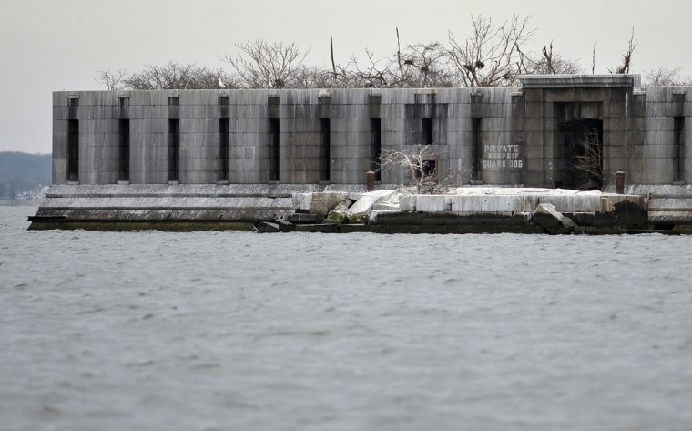 Fort Carroll, abandoned on the Patapsco River, is occupied by birds in 2012. (Kim Hairston, The Baltimore Sun)