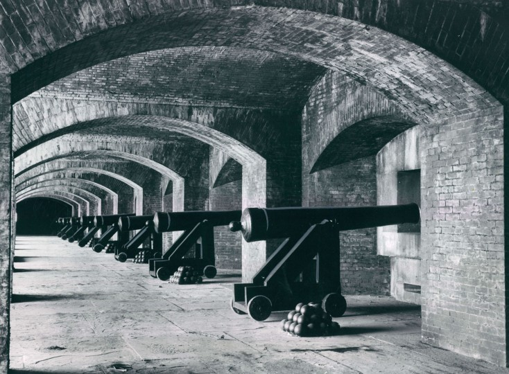 Replicas of guns used at the fortress when it was build more than 100 years ago had to be forged at a foundry solely for that purpose on the 3-1/2 acre island. More than 80 concrete guns were built in this manner. (Robert F. Kniesche, The Baltimore Sun)