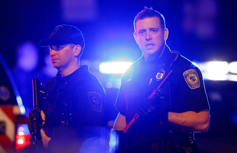 Many different law enforcement agencies descend on an area around Franklin Street on April 19, 2013 in Watertown, Massachusetts. After a car chase and shootout with police, one suspect in the Boston Marathon bombing, Tamerlan Tsarnaev, 26, was shot and killed by police early morning April 19, and a manhunt is underway for his brother and second suspect, 19-year-old Dzhokhar A. Tsarnaev. The two men are suspects in the bombings at the Boston Marathon on April 15 that killed three people and wounded at least 170.
