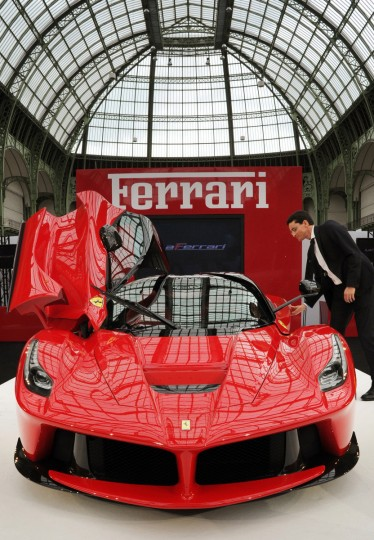 The LaFerrari car build by Italian car maker Ferrari is on display during its presentation in Paris. (Pierre Andrieu/Getty Images)The LaFerrari car build by Italian car maker Ferrari is on display during its presentation in Paris. (Pierre Andrieu/Getty Images)