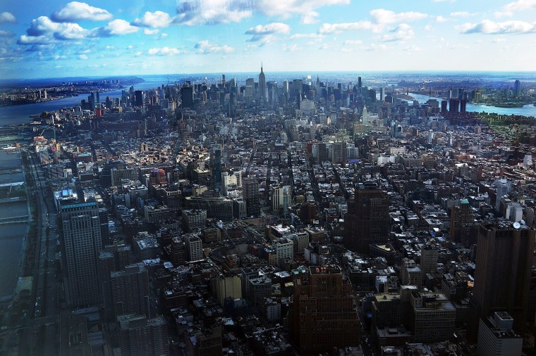 Manhattan is seen from One World Observatory on the 100th floor of One World Trade Center. (Spencer Platt/Getty Images)
