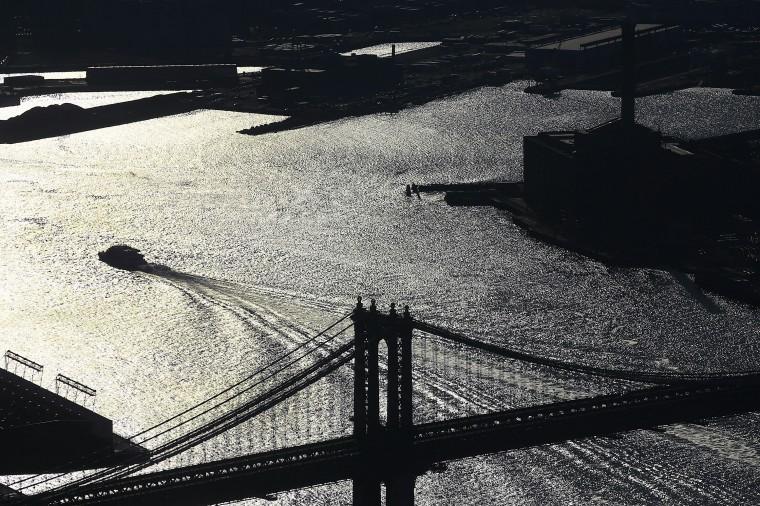 The Manhattan Bridge is among the many New York landmarks visible from the observation floor. (Spencer Platt/Getty Images)