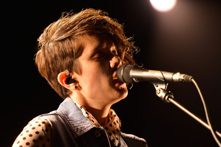 Tegan Quin of Tegan and Sara performs onstage during day 1 of the 2013 Coachella Valley Music & Arts Festival at the Empire Polo Club on April 12, 2013 in Indio, Calif. (Frazer Harrison/Getty Images for Coachella)