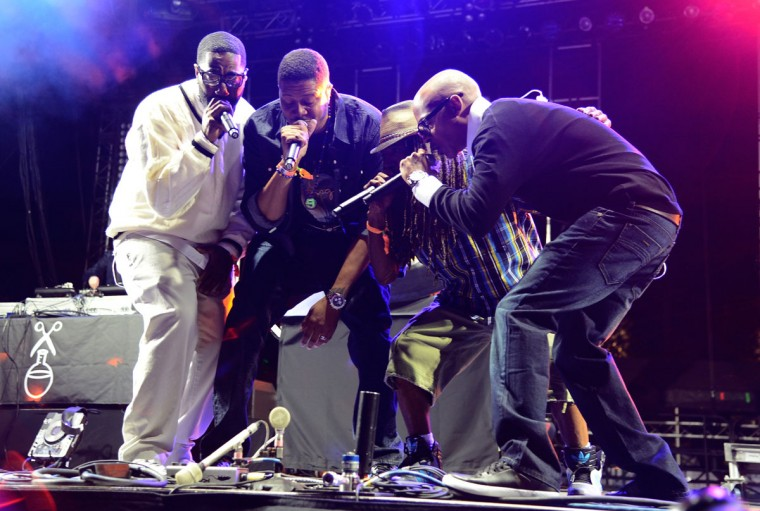 Jurassic 5 performs onstage during day 1 of the 2013 Coachella Valley Music & Arts Festival at the Empire Polo Club on April 12, 2013 in Indio, California. (Frazer Harrison/Getty Images for Coachella)