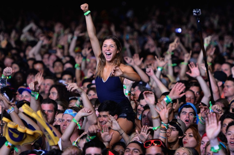 A music fan attends day 1 of the 2013 Coachella Valley Music & Arts Festival at the Empire Polo Club on April 12, 2013 in Indio, California. (Frazer Harrison/Getty Images for Coachella)