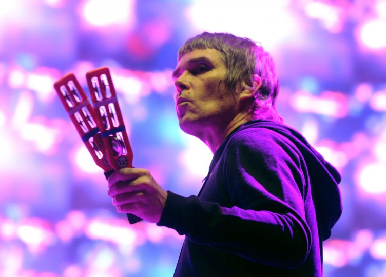 Singer Ian Brown of the band The Stone Roses performs onstage during day 1 of the 2013 Coachella Valley Music & Arts Festival at the Empire Polo Club on April 12, 2013 in Indio, Calif. (Kevin Winter/Getty Images for Coachella)