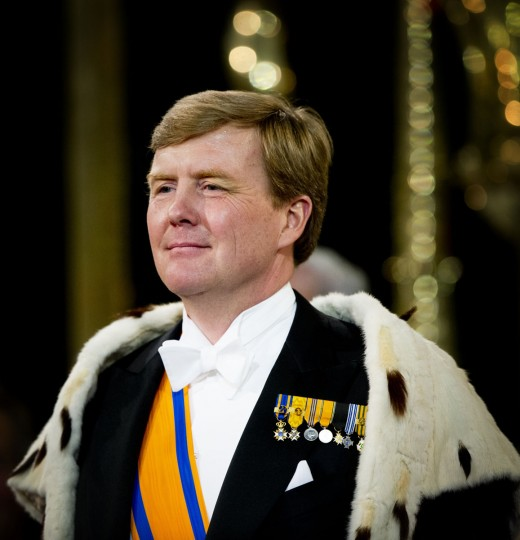 King Willem-Alexander of the Netherlands looks on during his inauguration ceremony at New Church in Amsterdam. (Pool/Getty Images)