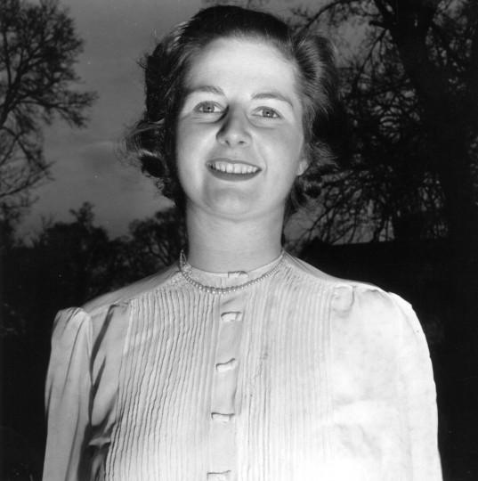 Margaret Hilda Thatcher as the Conservative candidate for Dartford, Kent, and before she married. (Chris Ware/Getty Images)