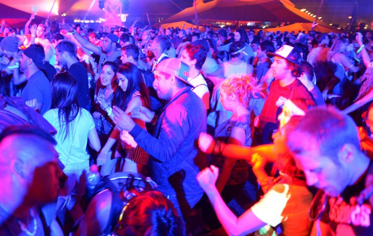 Music fans attend the 2013 Coachella Valley Music & Arts Festival at the Empire Polo Field on April 12, 2013 in Indio, California. (Joe Klamar/AFP/Getty Images)