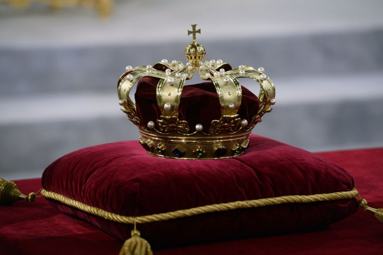 The Netherlands' royal crown rests on a pillow in Amsterdam during the preparations of the inauguration of King Willem-Alexander. The Netherlands' Willem-Alexander became Europe's youngest monarch on Tuesday after his mother, queen Beatrix, abdicated and his country hailed the avowedly 21st-century king with a massive, orange-hued party. (Lex van Lieshout/AFP/Getty Images)