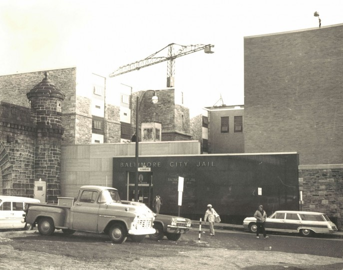 The Baltimore City jail under construction in 1996. (Baltimore Sun File Photo)