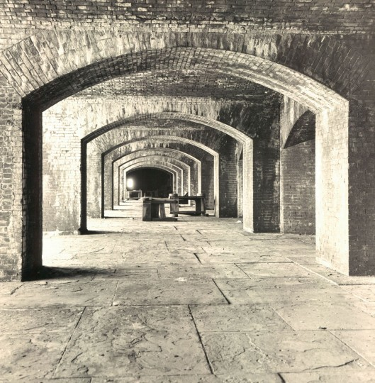 Inside Fort Carroll in 1968. (Baltimore Sun File Photo)