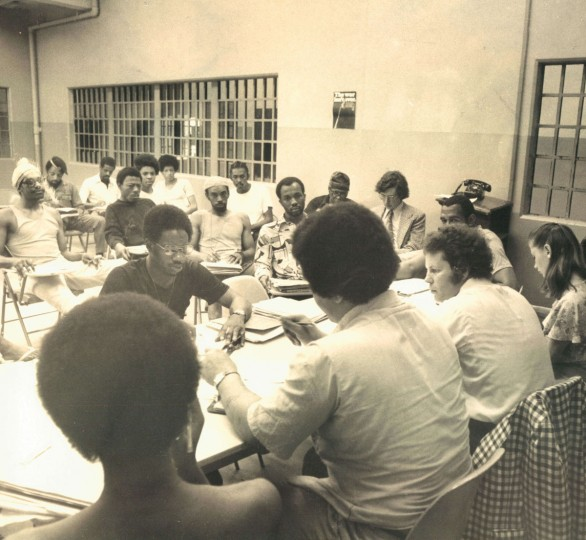 "In 1975, a meeting of the ""Inmate Council"" is held at the Baltimore City Jail. (Ralph Robinson/Baltimore Sun)"