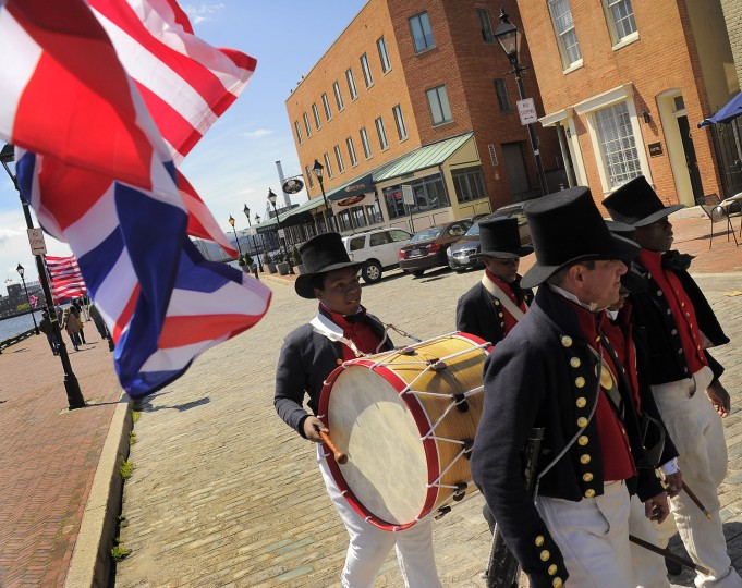 The Baltimore Privateers from Booker T. Washington Middle School march during the 2013 Privateer Festival. (Karl Merton Ferron/Baltimore Sun photo)