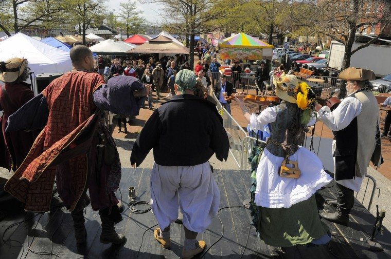 Pyrates Royale of the Baltimore/Annapolis area perform during the 2013 Privateer Festival. (Karl Merton Ferron/Baltimore Sun photo)
