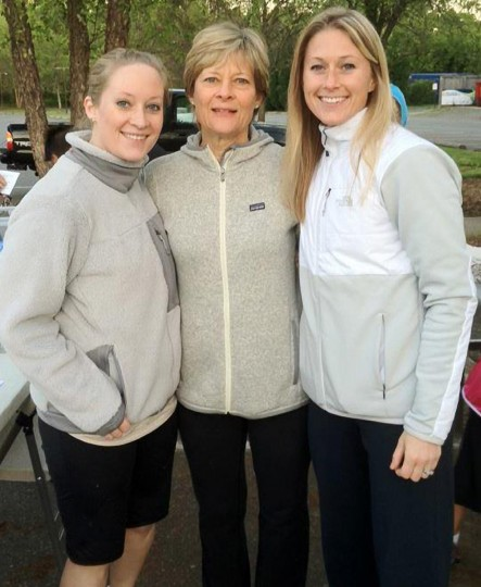 Erika Brannock, left, her mother Carol Phillips Downing and her sister Nicole Gross. Erika and Nicole were cheering on their mother Carol at the Boston Marathon when one of two bombs exploded nearby injuring the two women. (Family photo)