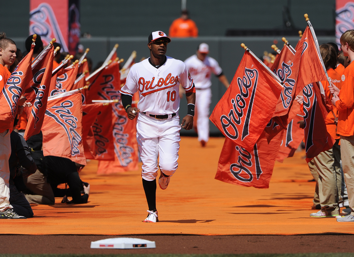Opening day festivities at Oriole Park