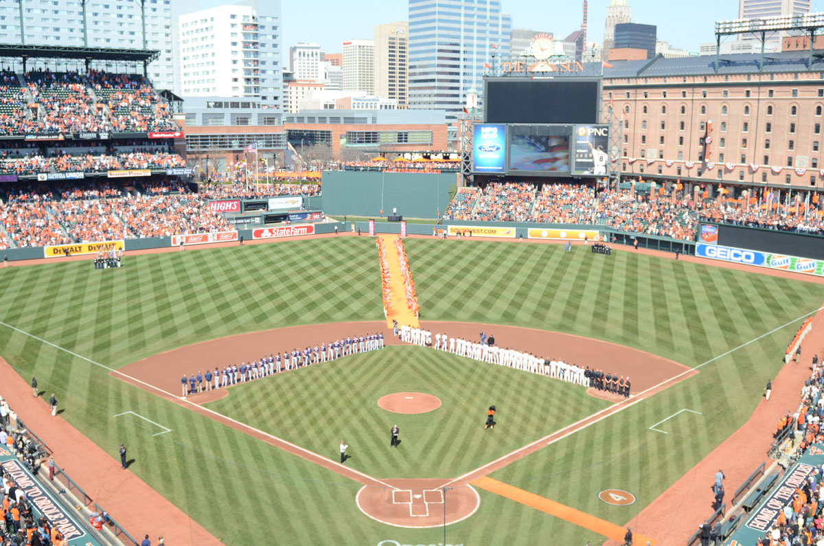 Time lapse: Opening Day at Oriole Park