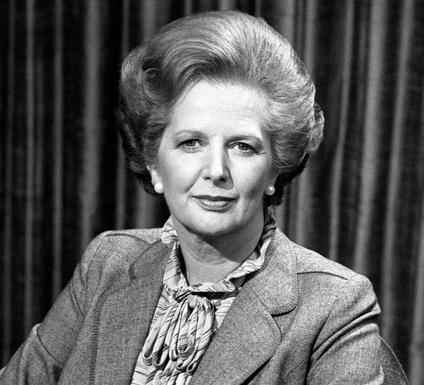 "Prime Minister Margaret Thatcher is photographed Aprl 26, 1982, before talking to the BBC TV's ""Panorama"" which went out live from the Whips Office at No 12 Downing Street, where she was interviewed by Richard Lindley and Robert Kee on the Falklands crisis. (PA Photos/Abaca Press/MCT)"