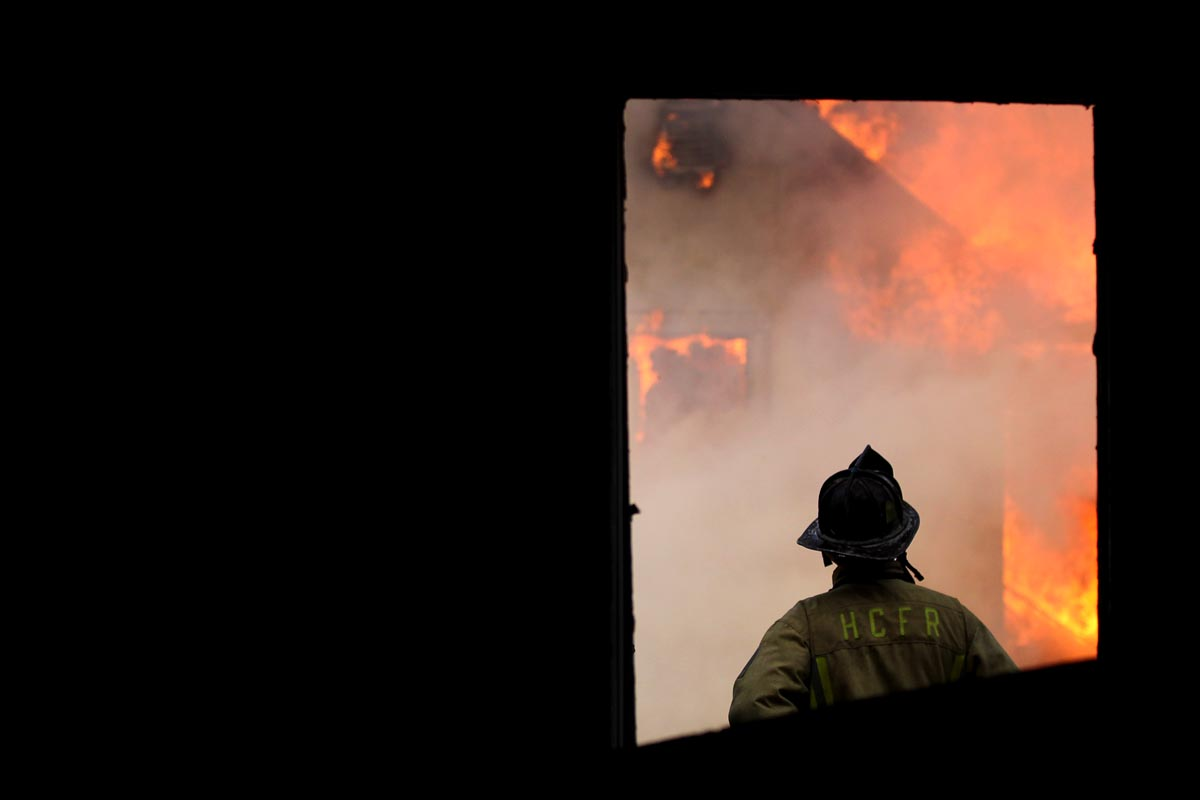 Training to fight fire in Howard County