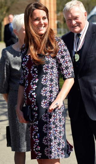 Britain's Catherine, Duchess of Cambridge arrives to visit The Willows Primary School in the Wythenshawe district near Manchester, northwest England. (Paul Ellis/Getty Images)