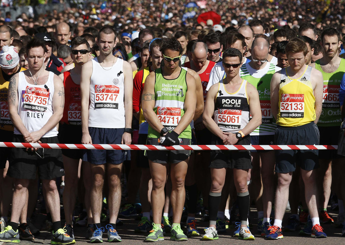 London Marathon carries on, keeping Boston top of mind