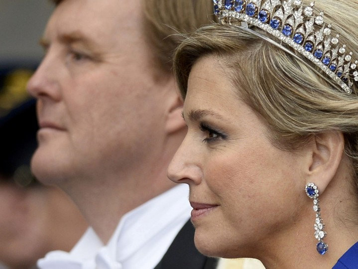Dutch King Willem-Alexander and his wife Queen Maxima leave Nieuwe Kerk church after the religious crowning ceremony in Amsterdam. (Dylan Martinez/Reuters)