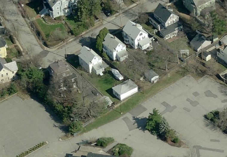 A Bing map image shows the backyard and boat (C) where police believe suspected bombing suspect Dzhokar Tsarnaev is cornered in Watertown, Massachusetts April 19, 2013. The manhunt for Dzhokhar Tsarnaev, 19, one of two brothers believed to have carried out Monday's attack, took a dramatic turn just minutes after authorities announced they were lifting a shelter-in-place order imposed on the entire city of Boston. (Bing Maps/Reuters)