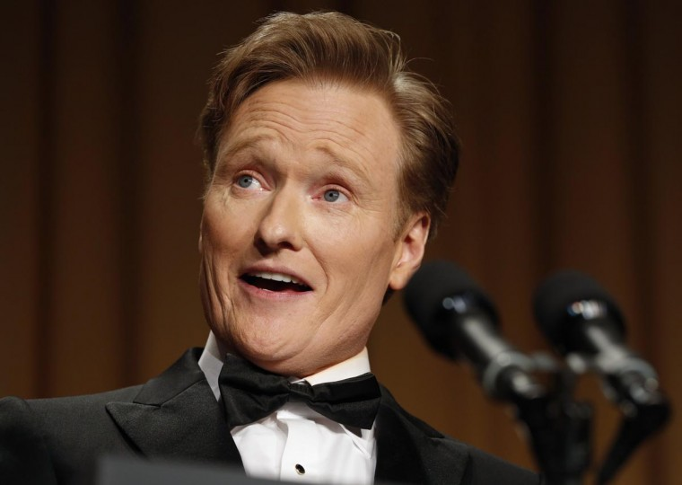 Comedian Conan O'Brien speaks at the White House Correspondents Association Dinner in Washington April 27, 2013. (Kevin Lamarque/Reuters)