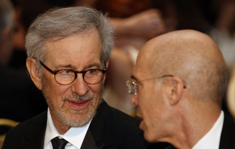 Director and producer Steven Spielberg attends the White House Correspondents Association Dinner in Washington April 27, 2013. (Kevin Lamarque/Reuters)