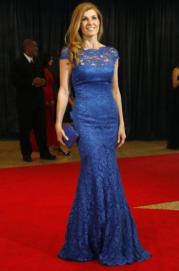 Actress Connie Britton arrives on the red carpet at the annual White House Correspondents' Association dinner in Washington April 27, 2013. (Jonathan Ernst/Reuters)