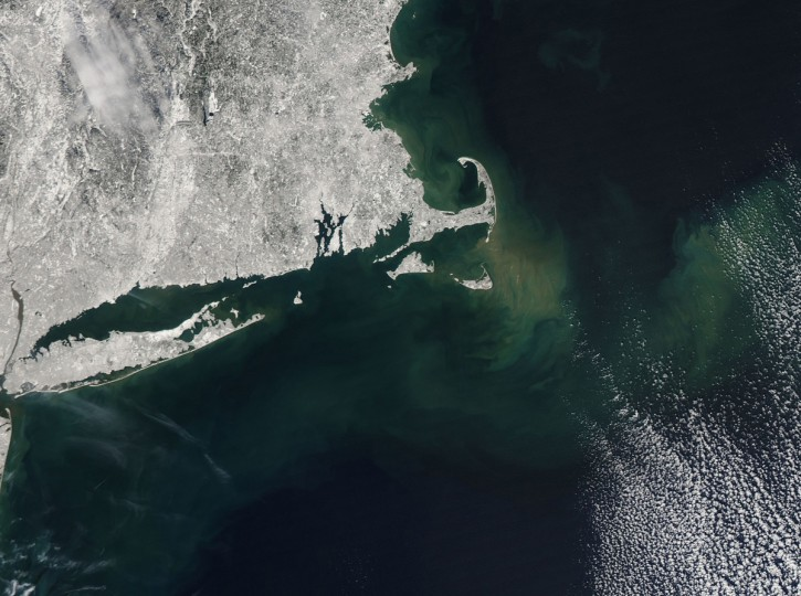 In February 2013, a nor'easter pounded the eastern United States, doing particular damage along the coast of New England. Wind gusts reached hurricane-force in several coastal states, raising a four to five-foot (1 to 1.5 meter) storm surge on top of astronomically high tides. The result was extreme beach erosion along the coast of Massachusetts and other coastal areas. NASA image