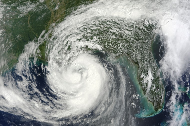 On August 28, 2012, tropical storm Isaac achieved hurricane force and was predicted to make landfall on the Gulf Coast of the United States sometime overnight. A category 1 storm, Hurricane Isaac approached the Louisiana and Mississippi coasts on the seventh anniversary of Hurricane Katrina. Hurricane watches and warnings were posted from Intracoastal City, Louisiana, to the Mississippi-Alabama border. NASA photo