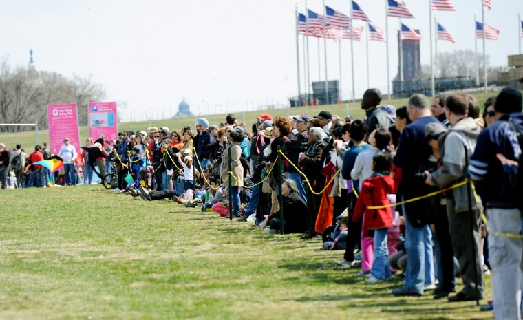 Festival attendees lined the competitor's circle to watch the best of the best. (Jon Sham/Baltimore Sun Media Group)