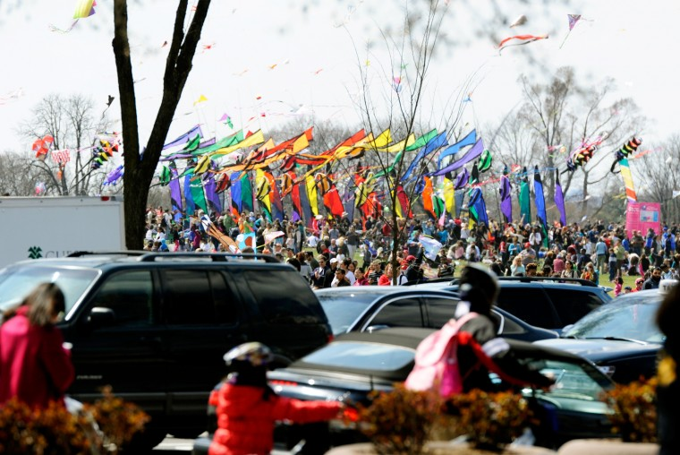 Due to the pleasant weather, kite festival and Cherry Blossoms, D.C. was busy all around on Saturday. (Jon Sham/Baltimore Sun Media Group)