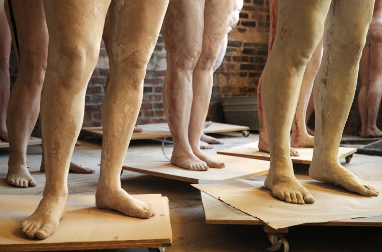 These life cast figures are part of an art series title Gender Identity and Body Image Awareness Project by artist Lania D'Agostino. The figures were created using a multi-step casting process, beginning first with the human body. (Algerina Perna/Baltimore Sun)