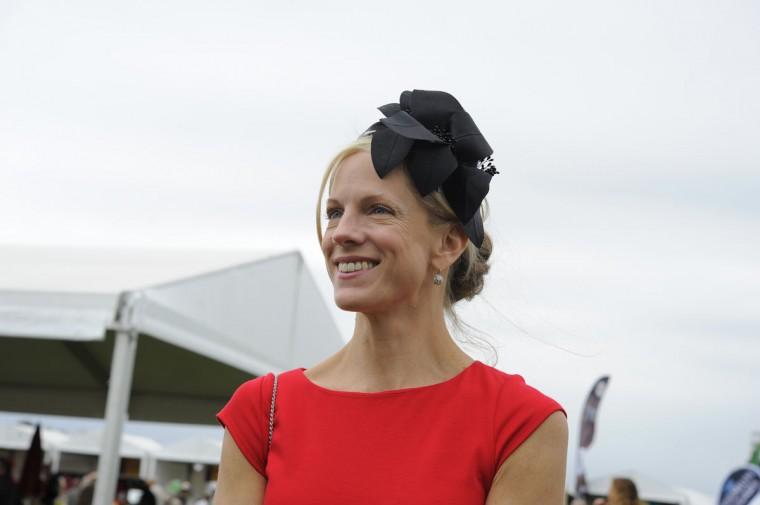 "Sharon Higgins, 42, Towson, marketing specialist. ""Fun and flirty."" (Lloyd Fox/The Baltimore Sun)"