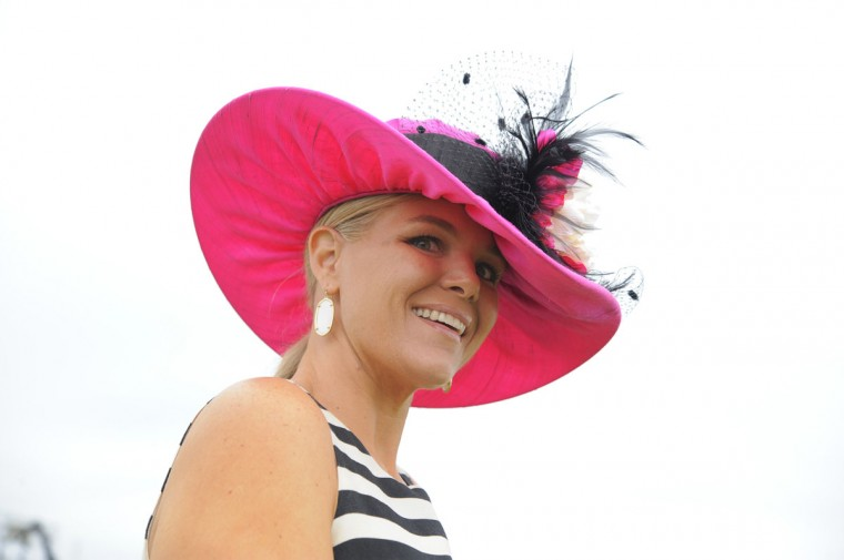 "Beth Workman, 36, Baltimore, ECI Entertainment. ""Pink. Fun. Something that stood out."" (Lloyd Fox/The Baltimore Sun)"