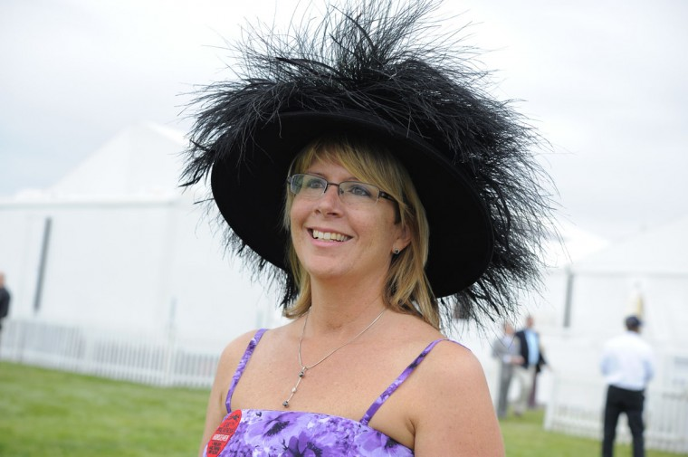 "Terese Brittingham, 45, Collegeville, Pa., real estate agent and horse owner. ""Lucky hat worn when we won Preakness in 2005."" (Lloyd Fox/The Baltimore Sun)"