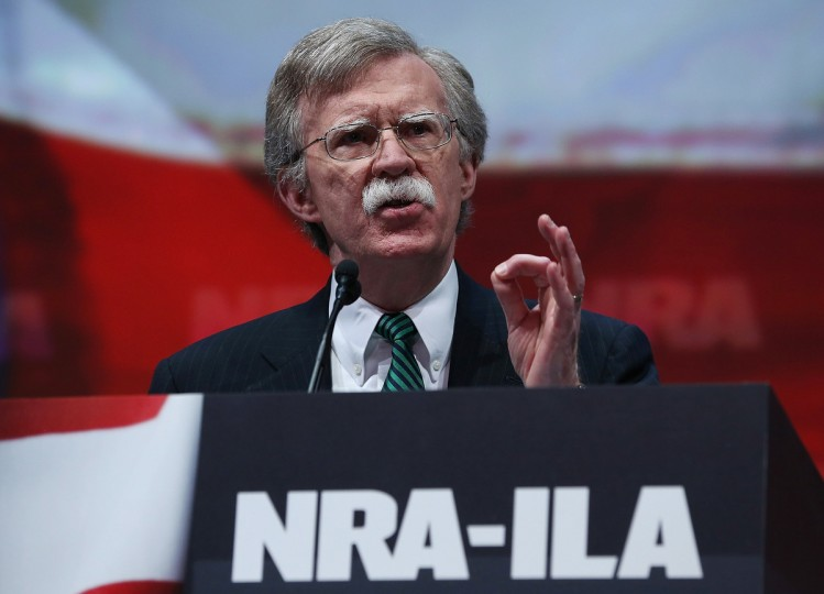 Former U.S. ambassador to the United Nations John Bolton speaks during the 2013 NRA Annual Meeting and Exhibits at the George R. Brown Convention Center on May 3, 2013 in Houston, Texas.(Justin Sullivan/Getty Images)