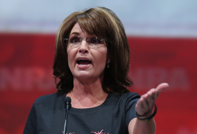 Former Alaska Gov. Sarah Palin speaks during the 2013 NRA Annual Meeting and Exhibits at the George R. Brown Convention Center on May 3, 2013 in Houston, Texas. (Justin Sullivan/Getty Images)