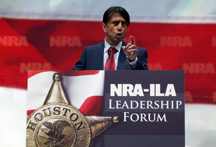 Louisiana governor Bobby Jindal speaks during the 2013 NRA Annual Meeting and Exhibits at the George R. Brown Convention Center on May 3, 2013 in Houston, Texas. (Justin Sullivan/Getty Images)