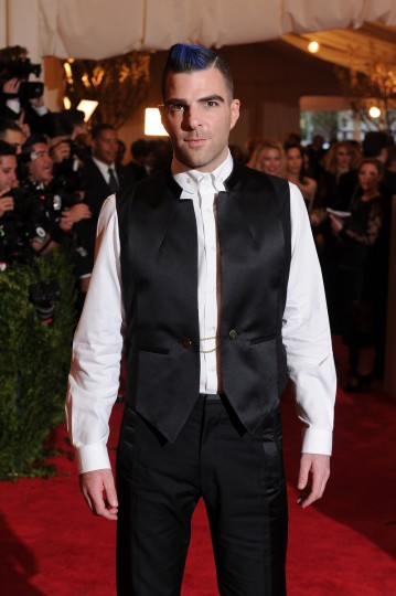 "Zachary Quinto attends the Costume Institute Gala for the ""PUNK: Chaos to Couture"" exhibition at the Metropolitan Museum of Art on May 6, 2013 in New York City. (Dimitrios Kambouris/Getty Images)"