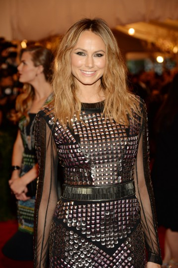 "Stacy Keibler attends the Costume Institute Gala for the ""PUNK: Chaos to Couture"" exhibition at the Metropolitan Museum of Art on May 6, 2013 in New York City. (Dimitrios Kambouris/Getty Images)"