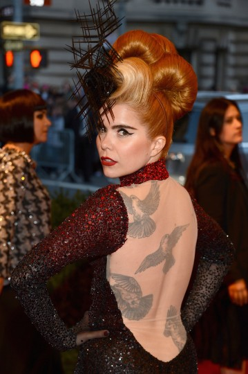 "Paloma Faith attends the Costume Institute Gala for the ""PUNK: Chaos to Couture"" exhibition at the Metropolitan Museum of Art on May 6, 2013 in New York City. ( Larry Busacca/Getty Images)"