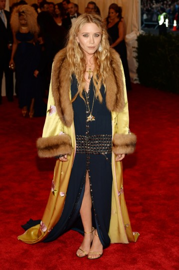 "Mary-Kate Olsen attends the Costume Institute Gala for the ""PUNK: Chaos to Couture"" exhibition at the Metropolitan Museum of Art on May 6, 2013 in New York City. (Dimitrios Kambouris/Getty Images)"