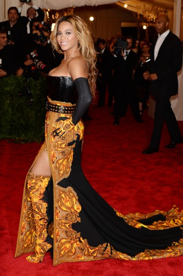 "Beyonce Knowles attends the Costume Institute Gala for the ""PUNK: Chaos to Couture"" exhibition at the Metropolitan Museum of Art on May 6, 2013 in New York City. (Dimitrios Kambouris/Getty Images)"