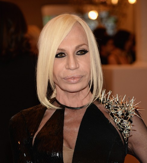 Donatella Versace attends the 2013 Costume Institute Gala - PUNK: Chaos to Couture at Metropolitan Museum of Art on May 6, 2013 in New York City. (Dimitrios Kambouris/Getty Images)