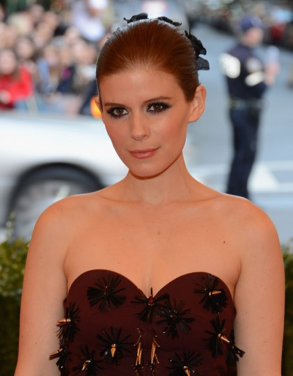 "Kate Mara attends the Costume Institute Gala for the ""PUNK: Chaos to Couture"" exhibition at the Metropolitan Museum of Art on May 6, 2013 in New York City. (Larry Busacca/Getty Images)"