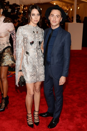 "Actress Aubrey Plaza (L) and designer Eddie Borgo attends the Costume Institute Gala for the ""PUNK: Chaos to Couture"" exhibition at the Metropolitan Museum of Art on May 6, 2013 in New York City. (Dimitrios Kambouris/Getty Images)"
